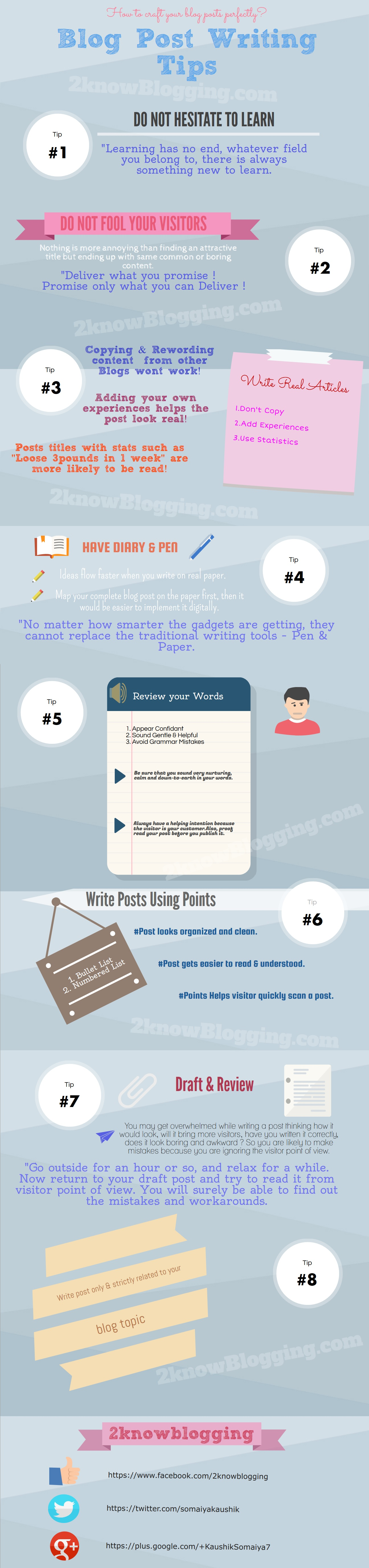 8 awesome blog post writing tips